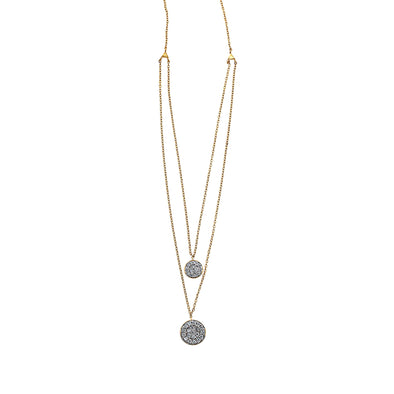 Blaze Double Drop Lab Grown Diamond Pendant - 14k Gold Over Sterling