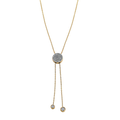 Blaze Lariat Lab Grown Diamond Necklace - 14k Gold Over Sterling