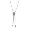 Blaze Lariat Lab Grown Diamond Necklace - Sterling