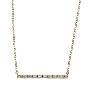 Flash Long Bar Lab-Grown Diamond Pendant - 14k Gold Over Sterling Silver