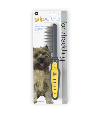 JW Dog Soft Grip Shedding Comb Long Hair
