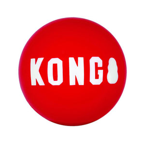 Kong Signature Squeak Red Ball Large