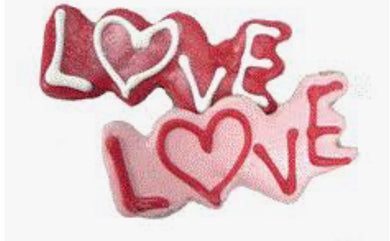 Bakery Valentines Love (Word) Cookie - Sweet Potato