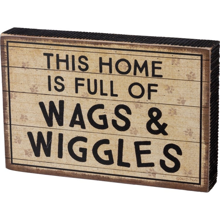 Primitives Block Sign Wags & Wiggles