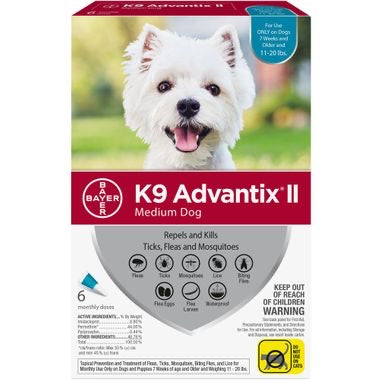K9 Advantix II Medium (Teal 11-20lb)