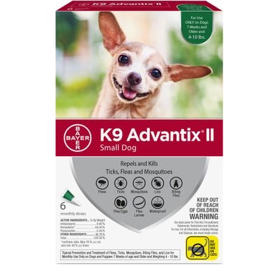 K9 Advantix II Small (Green 4-10lb)
