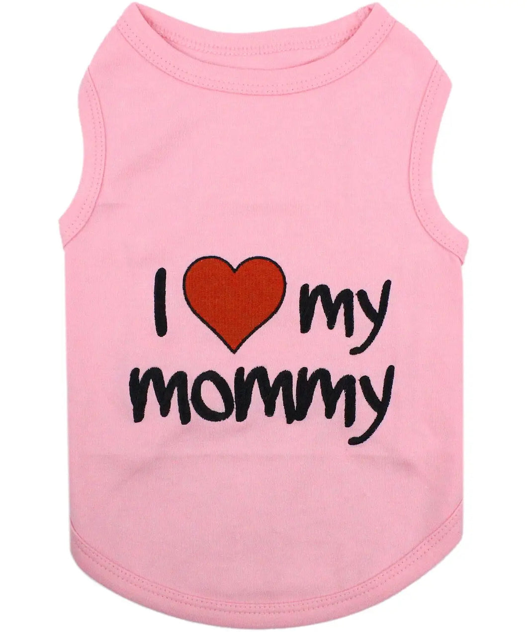 Parisian Pet Dog Tee Love My Mommy Pink