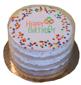 "Bakery Birthday Layer ""Happy Birthday"" Cake Boxed"