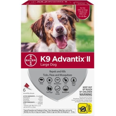 K9 Advantix II Large (Red 21-55lb)