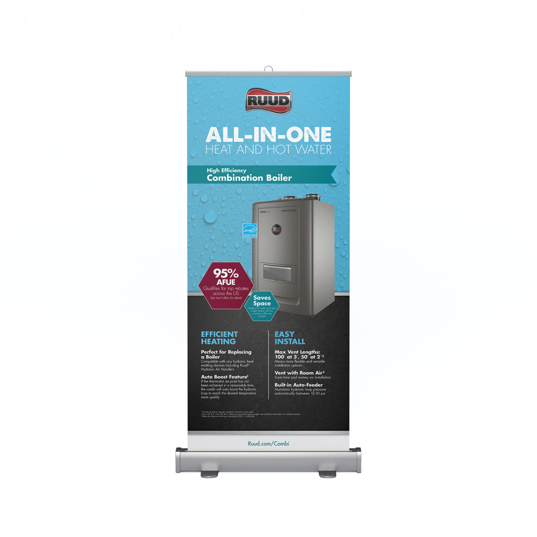 High Efficiency Combination Boiler Retractable Banner