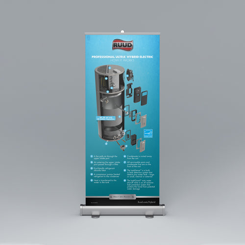Hybrid Cut-Away Roll-Up Banner