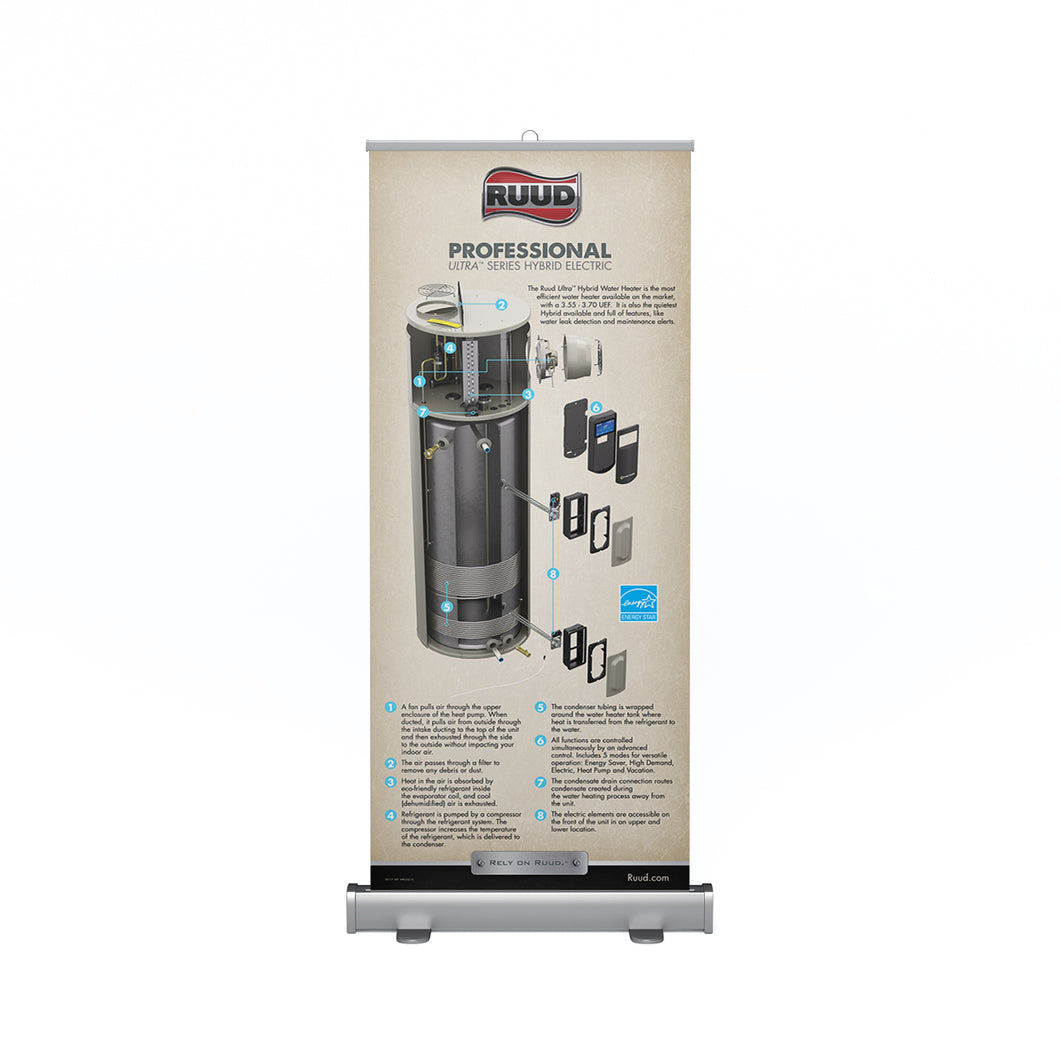 Ultra™ Series Hybrid Electric Professional Retractable Banner