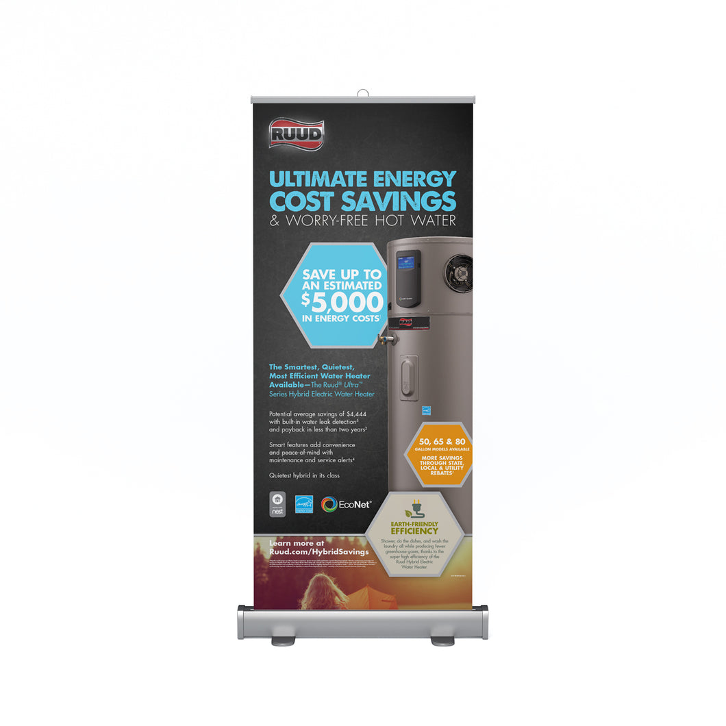 Ultra™ Series Hybrid Electric Consumer Retractable Banner