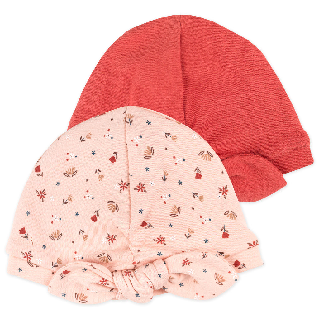 2-Pack Turban Cap in Hedgehog Print