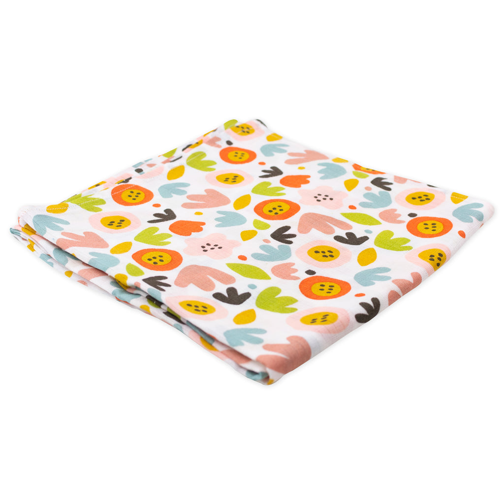 3-Pack Muslin Swaddles in Floral Fox Prints