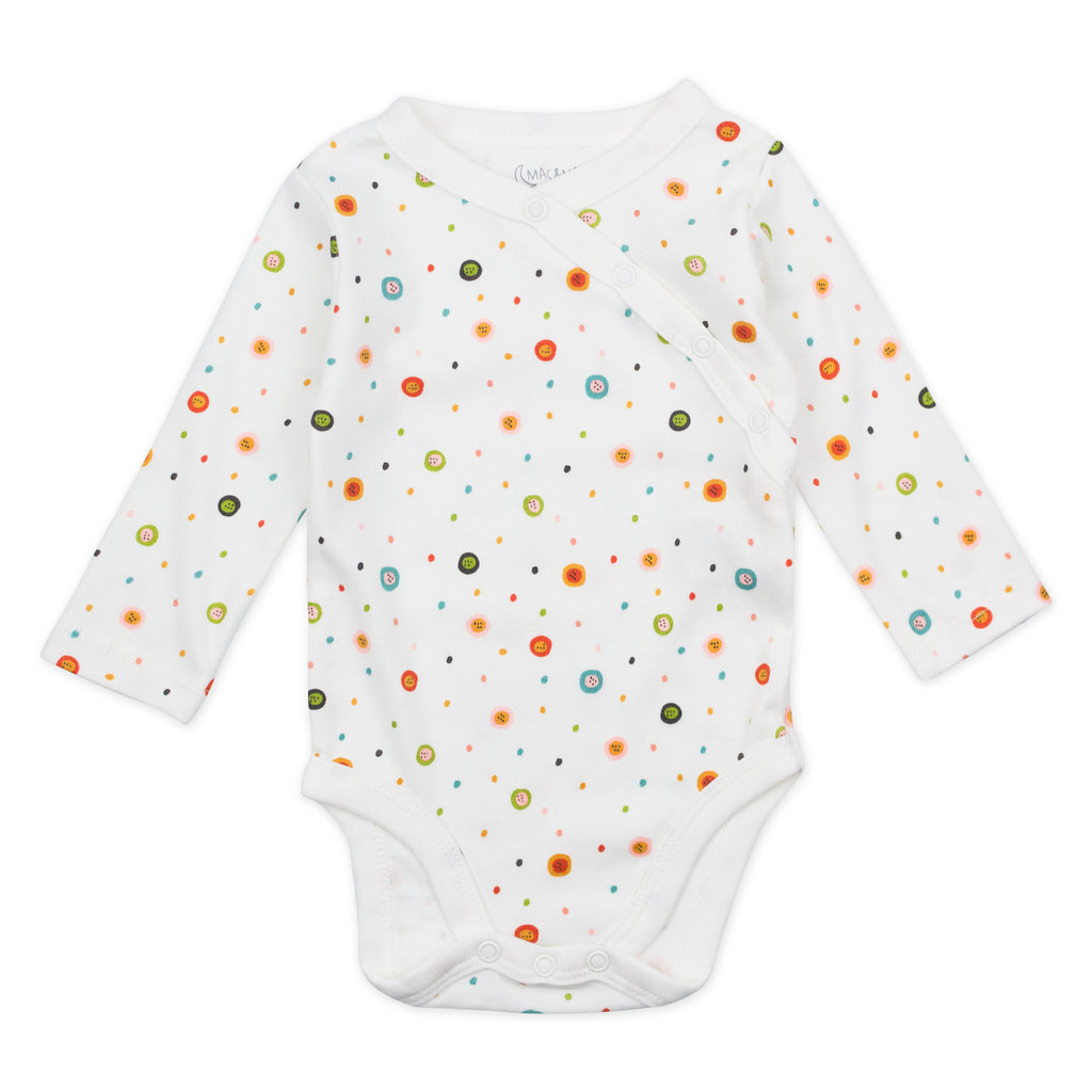 3-Pack Long Sleeve Bodysuits in Fox Floral Print