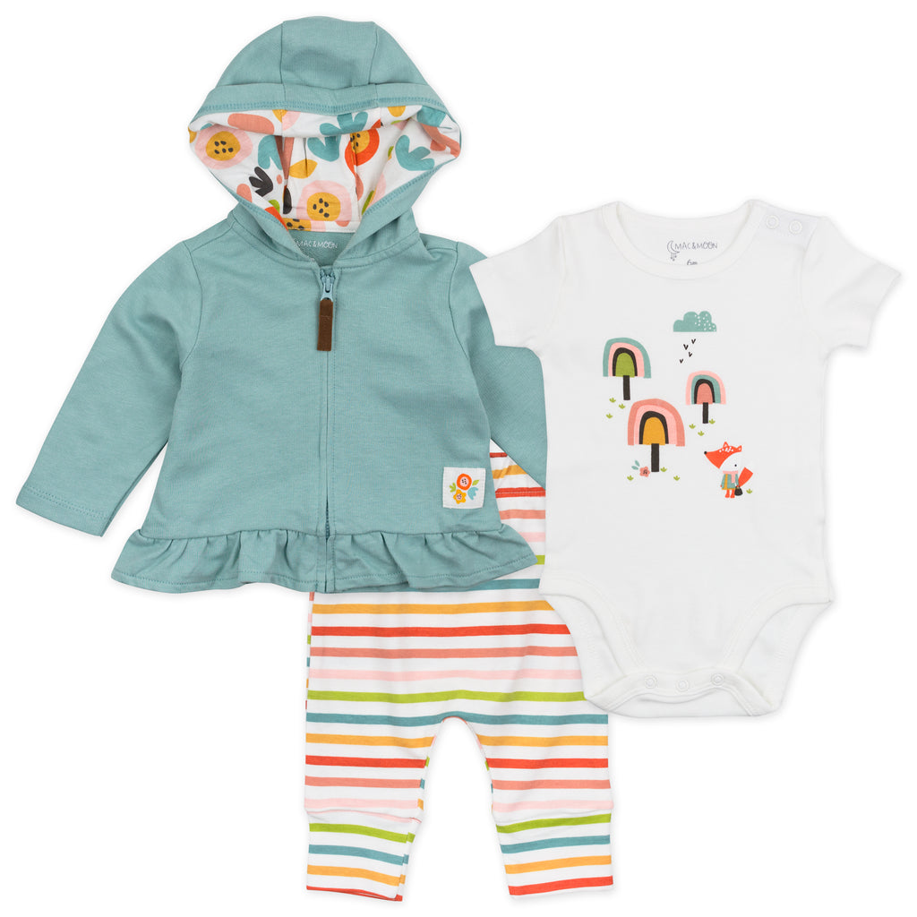 3-Piece Set in Fox Stripes