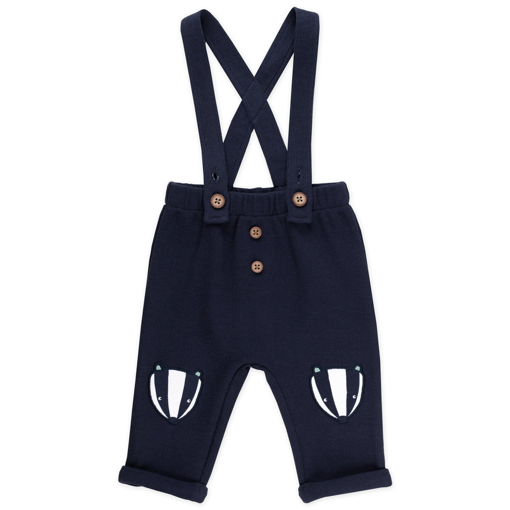 2-Piece Suspender Set in Badger Print