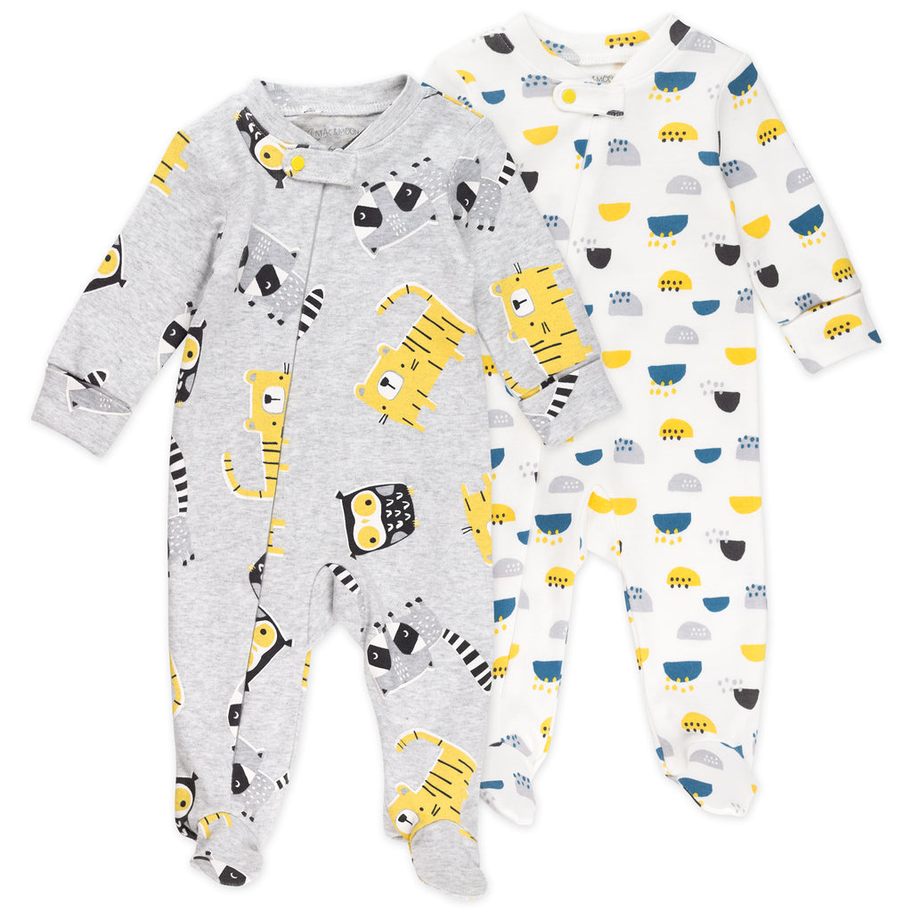 2-Pack Sleep & Plays in Animal Prints
