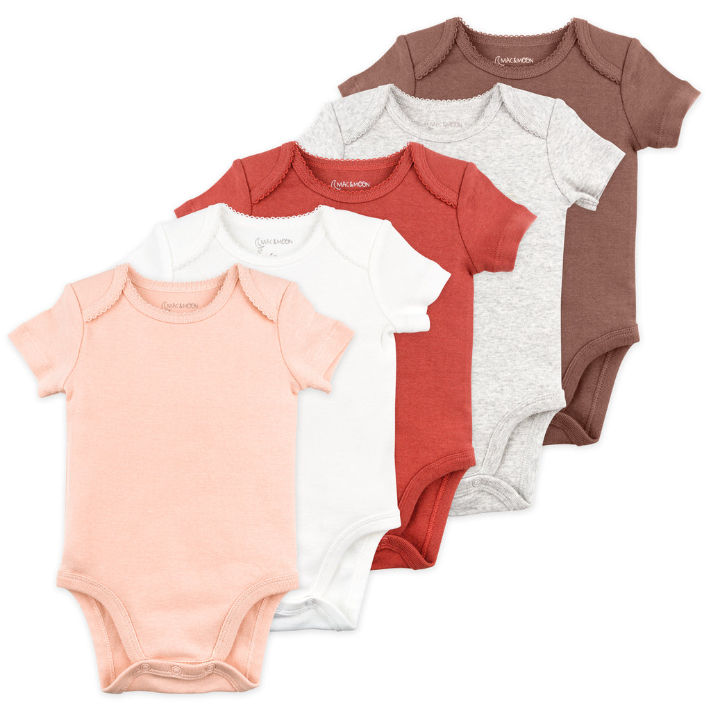 5-Pack Bodysuit in Hedgehog Pinks