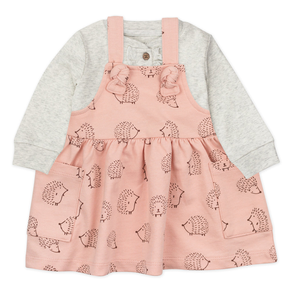 2-Piece Dress Set in Hedgehog Print