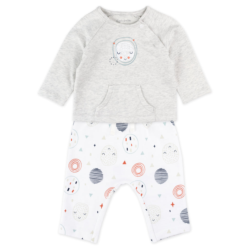 2-Piece Fashion Set in Moon Print