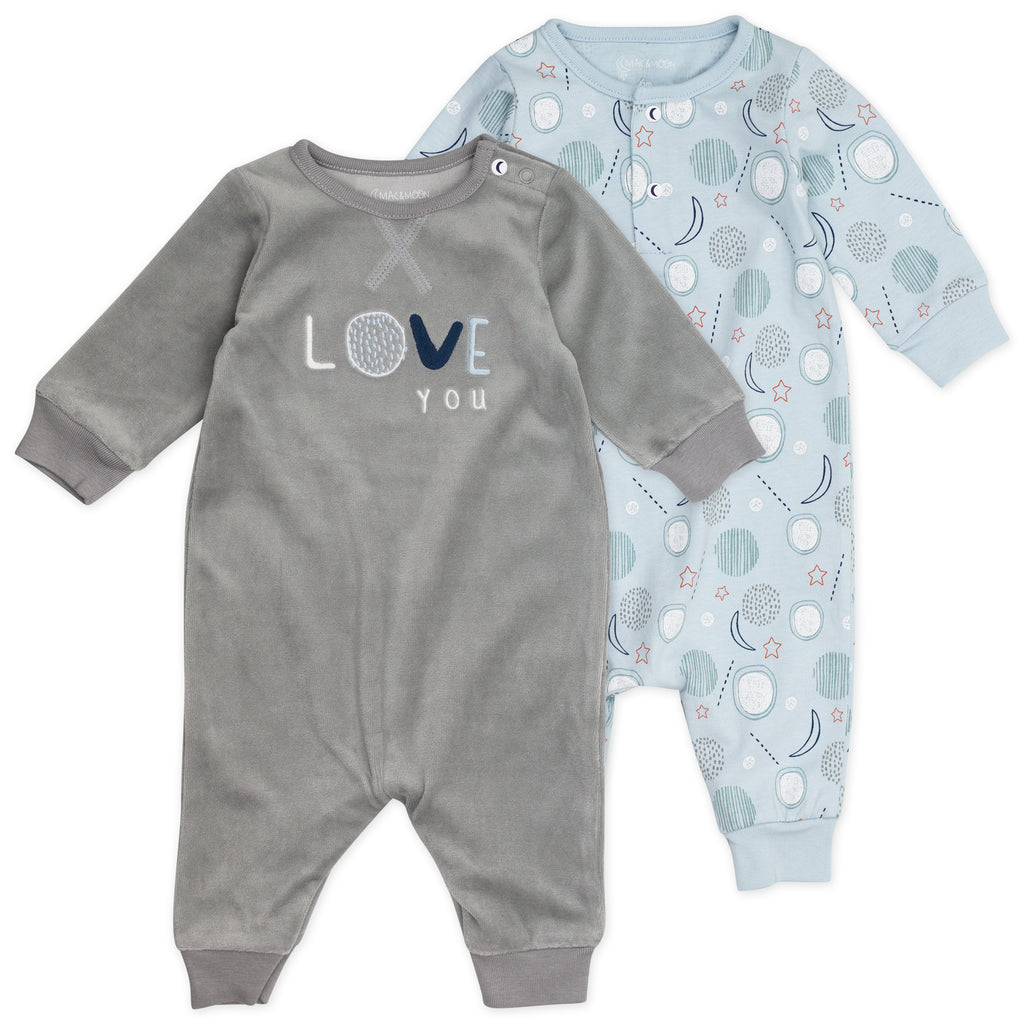 2-Pack Unionsuit in Moon Print