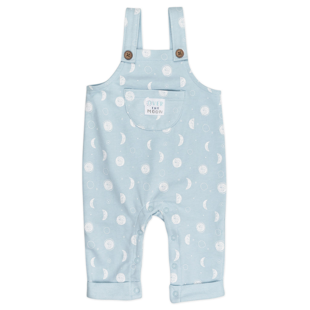 2-Piece Overall Set in Moon Print