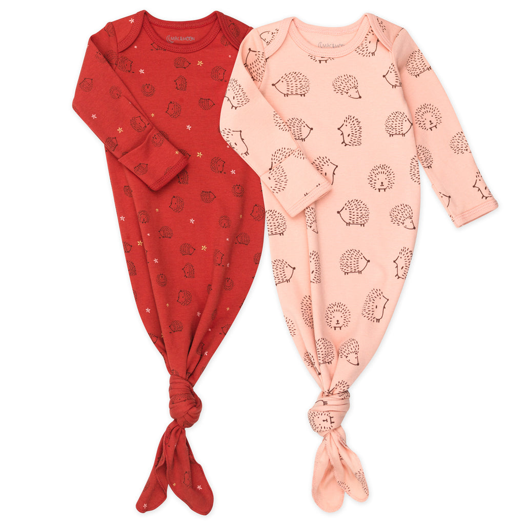 2-Pack Baby Gown in Hedgehog Print