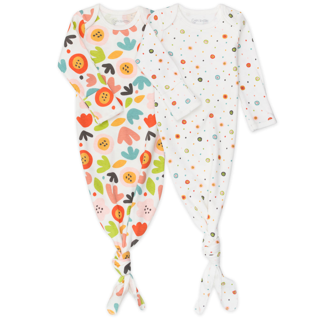 2-Pack Baby Gown in Fox Floral Print