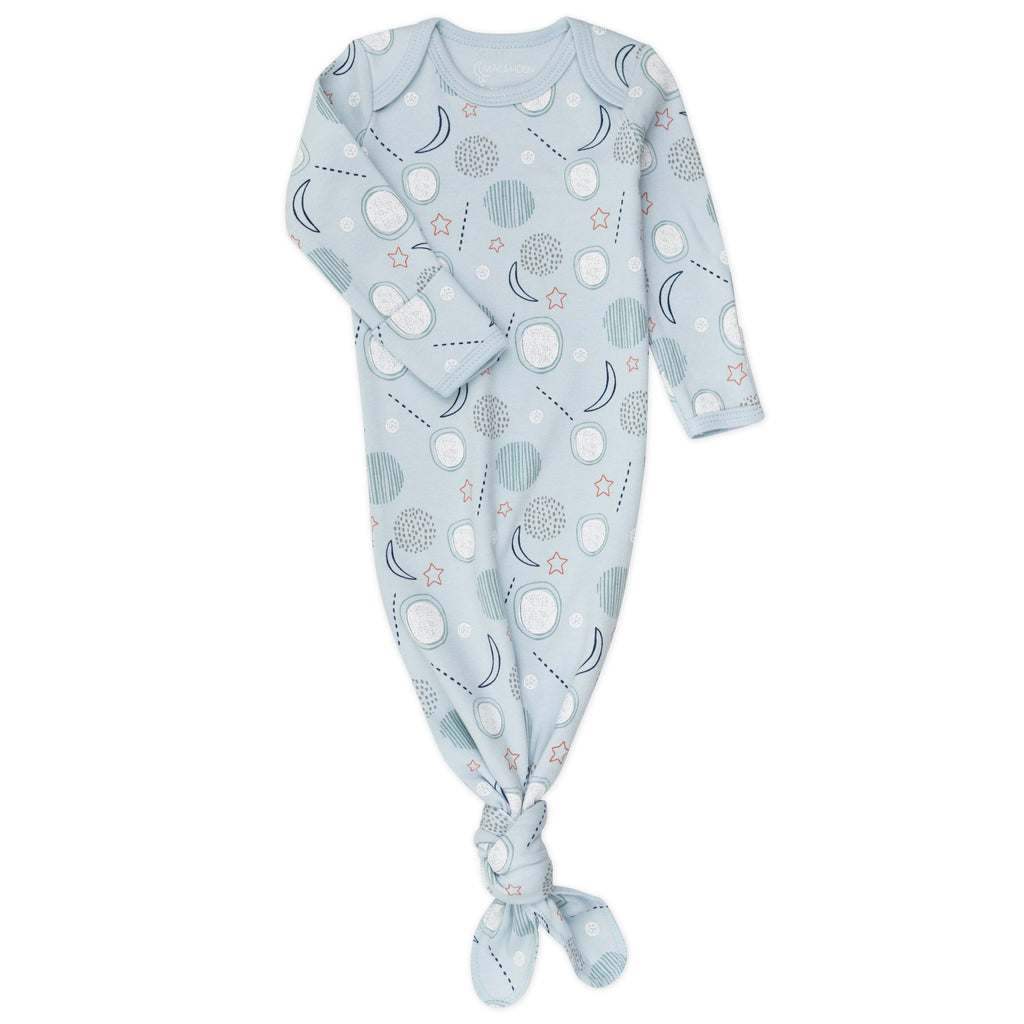 2-Pack Baby Gown in Moon Print
