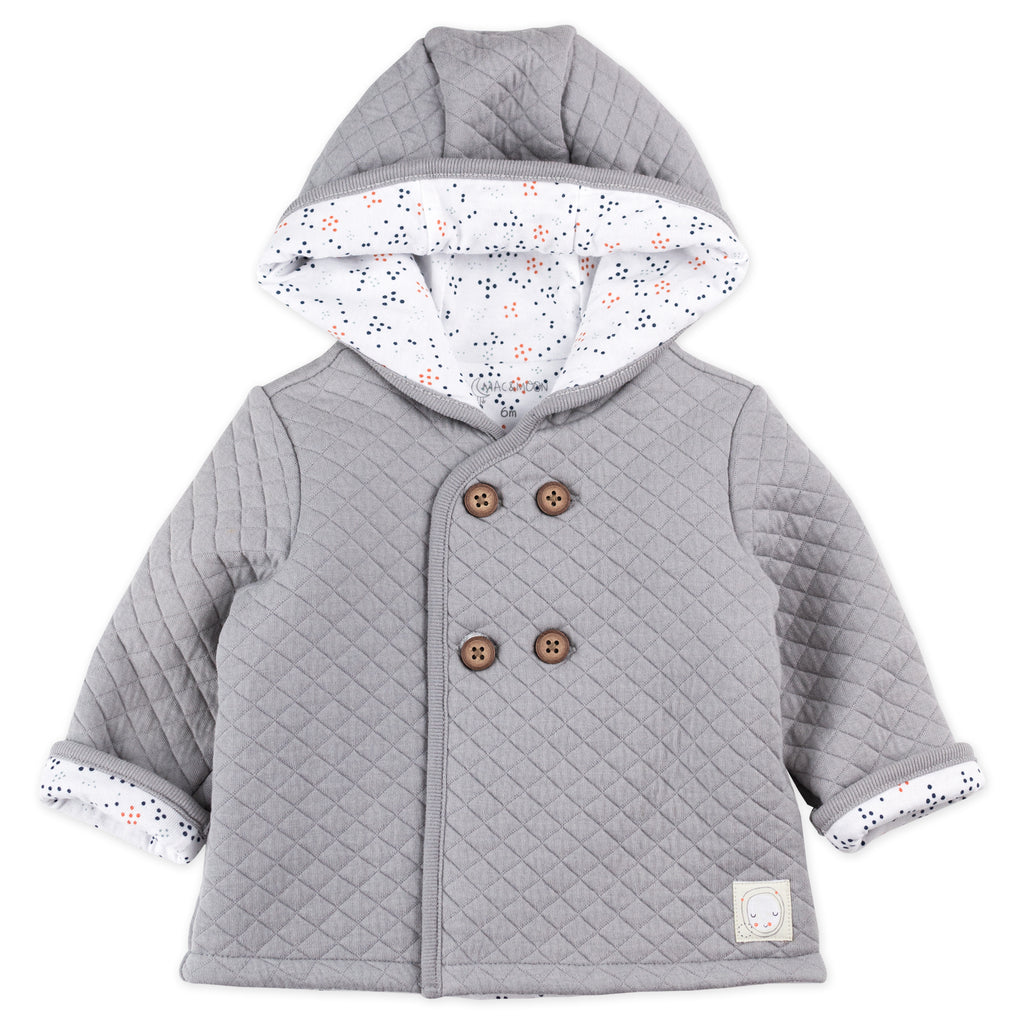 Light Gray Quilted Jacket