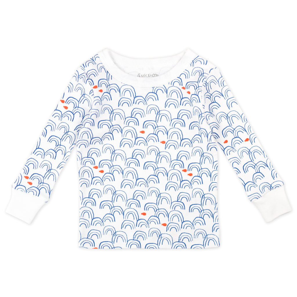 4-Piece Pajama Set in Narwhal Print