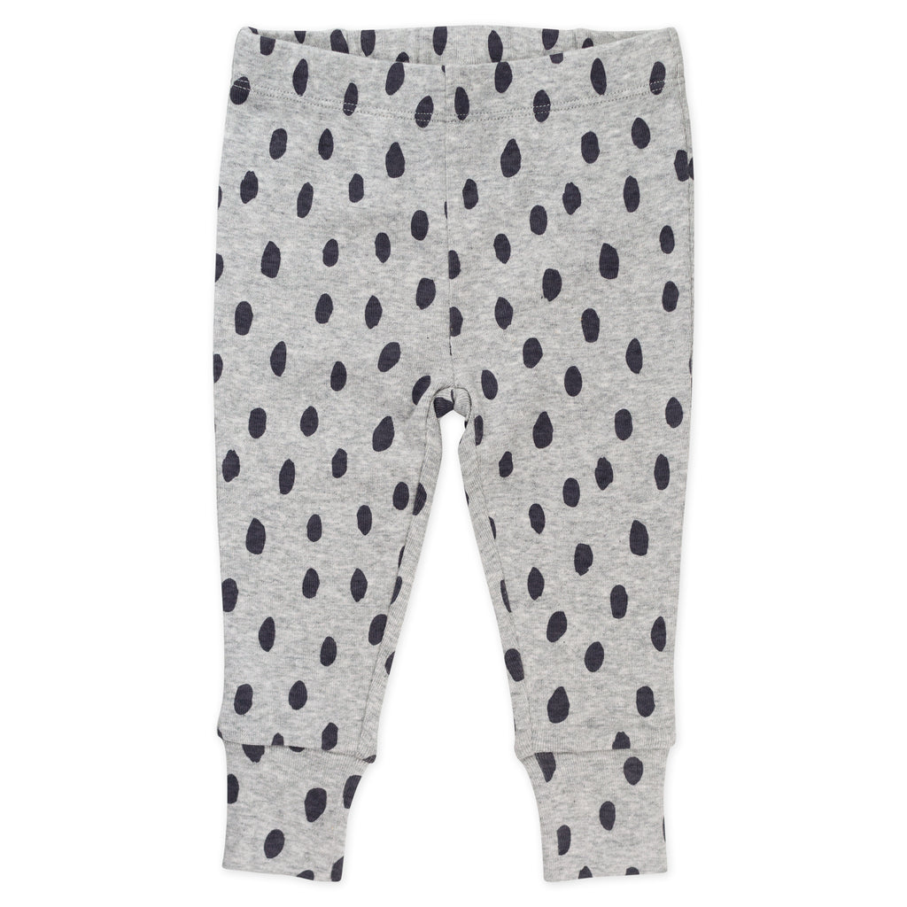 4-Piece Pajama Print Set in Animal and Dot Print