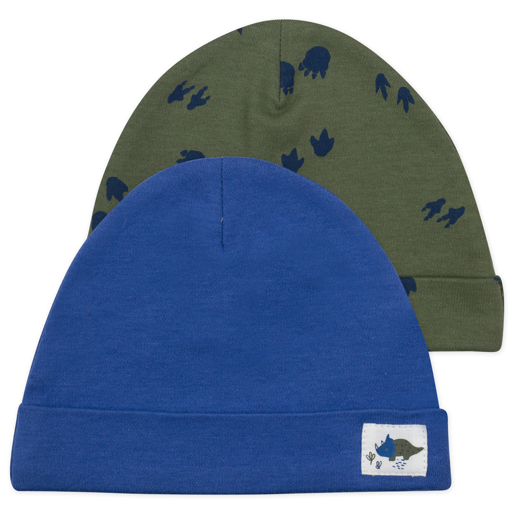 2-Pack Cap in Dinosaur Print