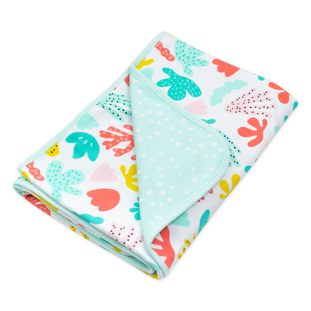 Coral Reef Print Receiving Blanket