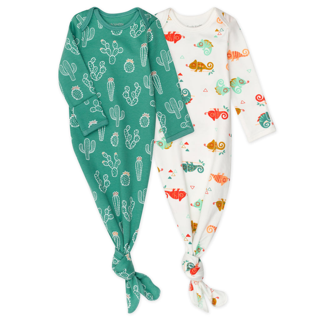 2-Pack Baby Gown in Chameleon Print