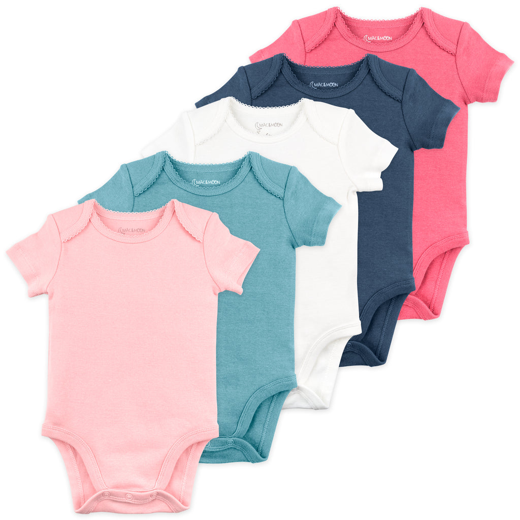 5-Pack Bodysuit in Bunny Floral Colors