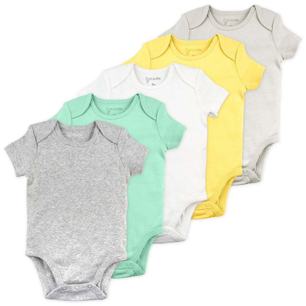 5-Pack Bodysuit in Turtle Colors