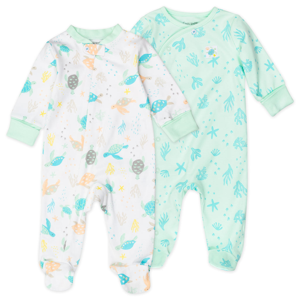 2-Pack Sleep & Play in Turtle Print