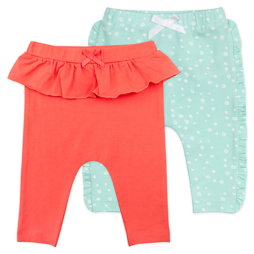 2-Pack Ruffled Legging in Coral Reef Print