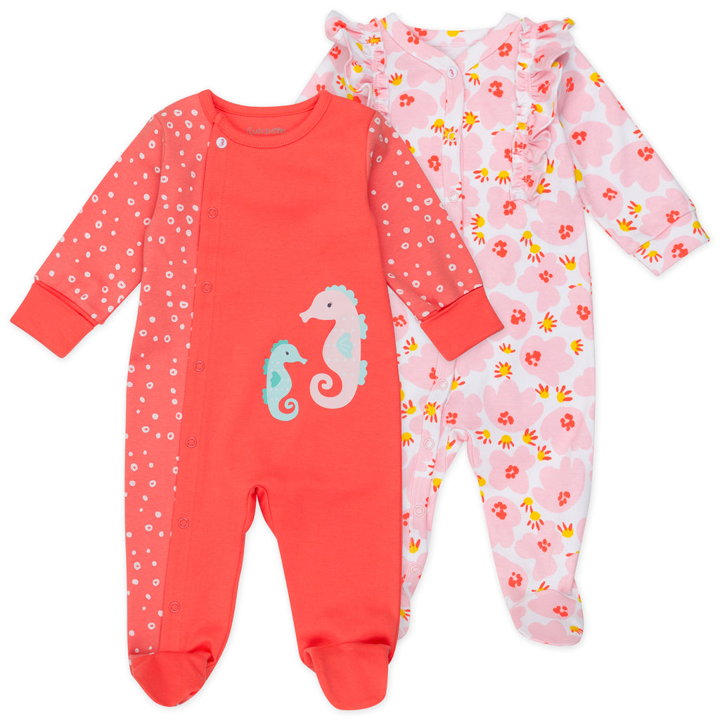 2-Pack Sleep & Play in Coral Reef Print