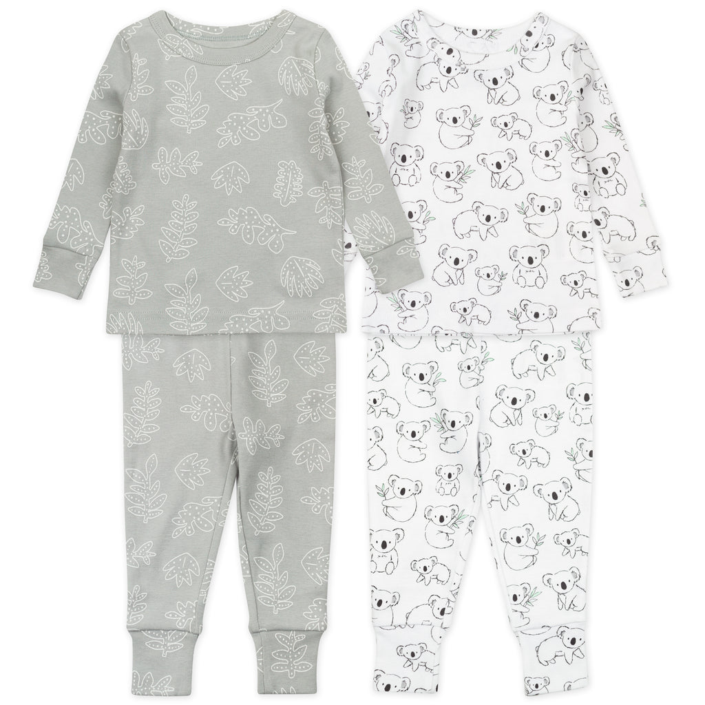 4-Piece Pajama Set in Koala Print