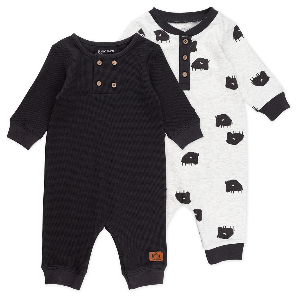 2-Pack Unionsuit in Buffalo Print