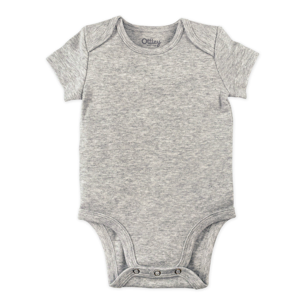 5-Pack Bodysuit in White, Heather Gray and Black