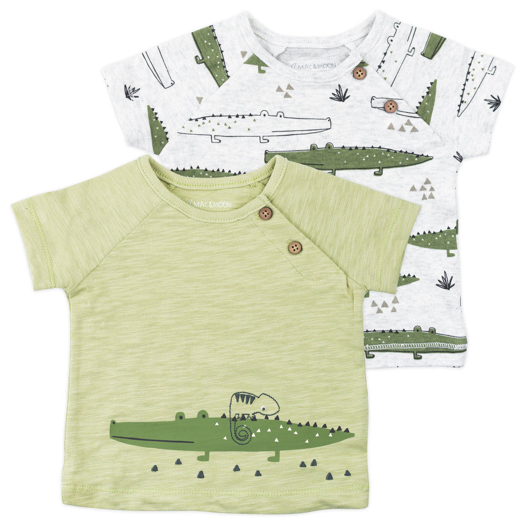 2-Pack Short Sleeve Tees in Crocodile Print