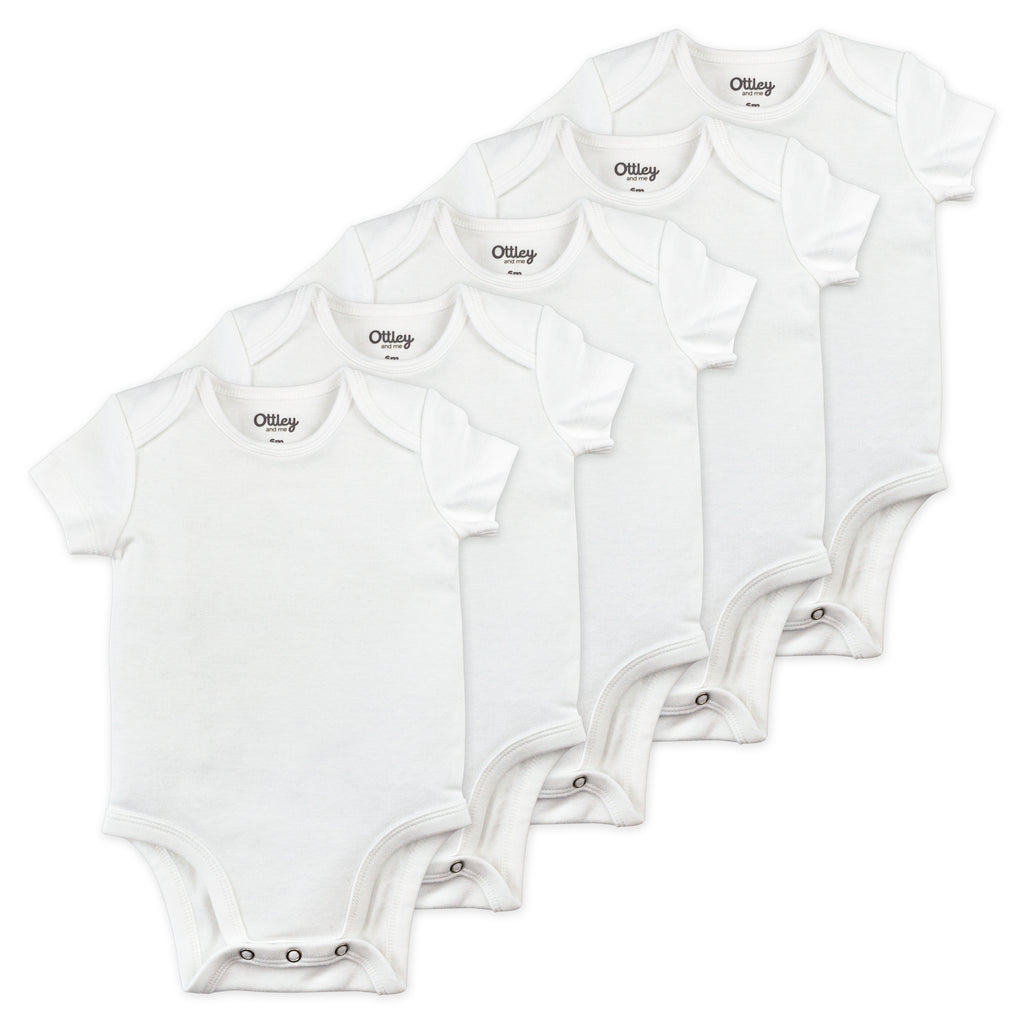 5-Pack Bodysuit in White
