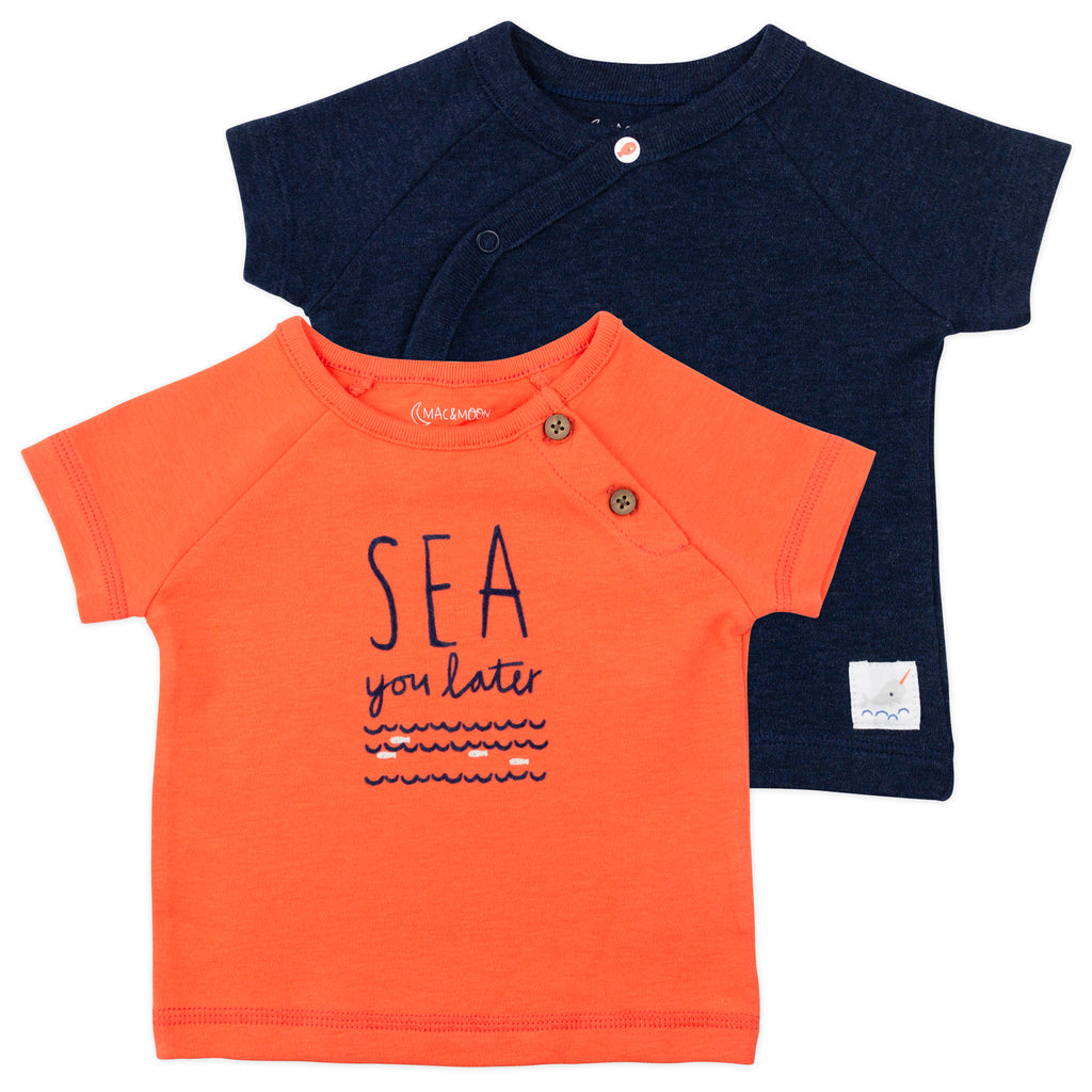2-Pack Tee in Navy and Orange