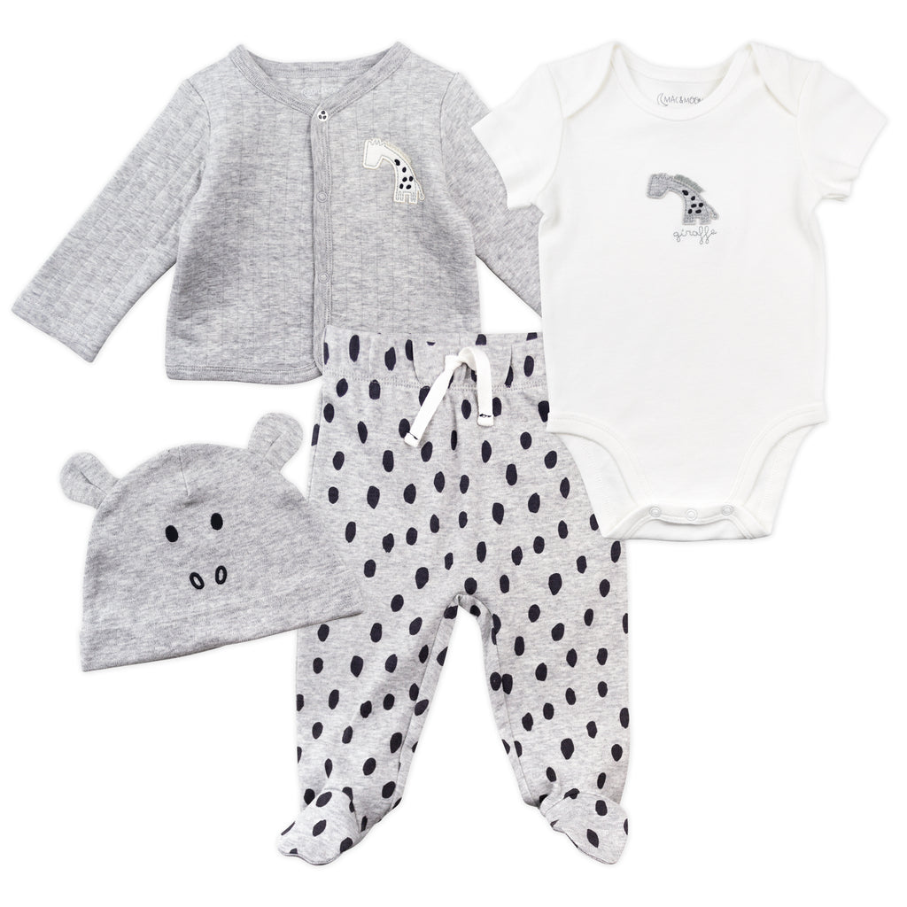 4-Piece Take Me Home Set in Mono Animal Print