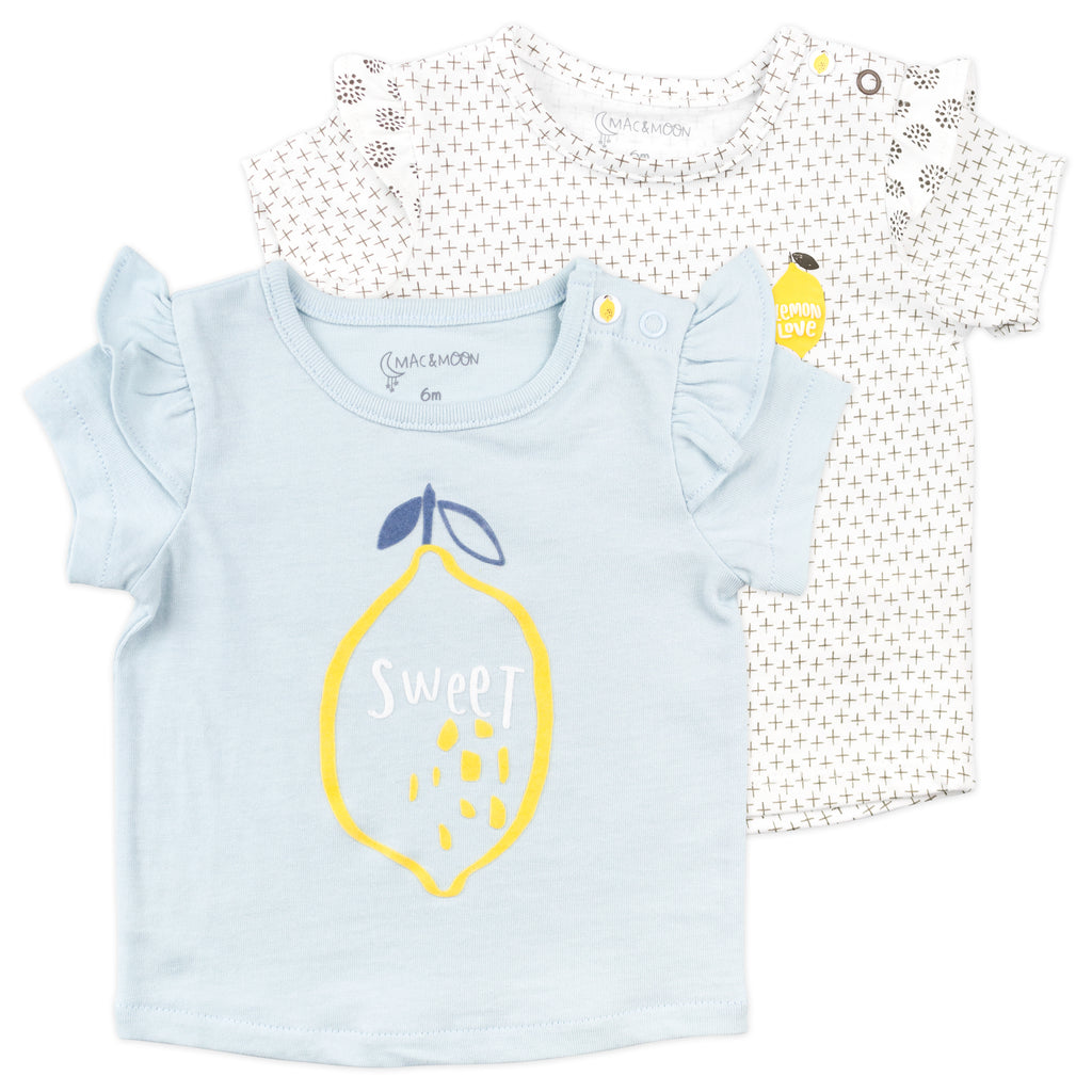 2-Pack Tops in Lemon Print